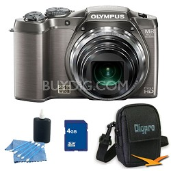 4 GB Kit SZ-31MR iHS 16MP 24X Opt Zoom 3 in LCD Camera - Silver