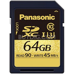 64GB Gold Series Ultra High Speed UHS-I SDXC Memory Card Class 10 (U3)(SDUC64)