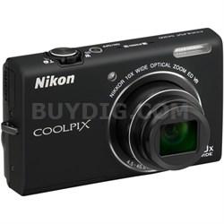 COOLPIX S6200 10x Zoom 16MP Digital Camera (Black) - Factory Refurbished