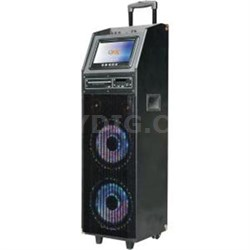 "Portable Bluetooth Speaker with 9"" Screen Karaoke - PBX-410206BTD"