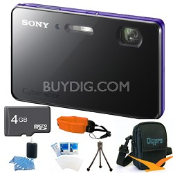 "DSC-TX200V/V - 18.2 MP Digital Camera Waterproof 3.3"" OLED (Violet) Value Bundle"