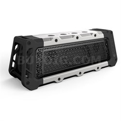 Tough XL Portable Waterproof Speaker with Bluetooth - Silver/Black - OPEN BOX