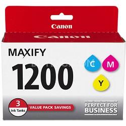 MAXIFY PGI-1200 CMY (Cyan, Magenta, Yellow) 3 Ink Value Pack