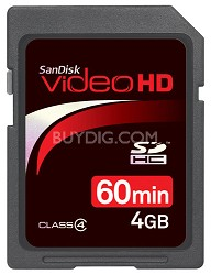 60 Minutes Video / 4 GB Ultra II SDHC High Performance Video HD Memory Card