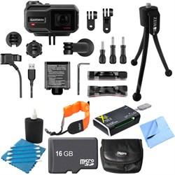 VIRB XE Compact Waterproof HD Action Camera w/ G-Metrix 16GB Memory Card Bundle