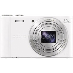DSC-WX300/B White 18.2MP Digital Camera with 20x Opt. Image Stabilized Zoom