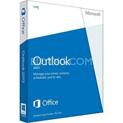 Outlook 2013 Key Card (No Disc)