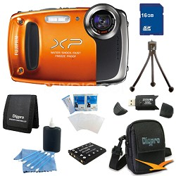 Finepix XP50 14MP CMOS Digital Camera 16 GB Bundle (Orange)