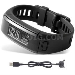 vivosmart HR Activity Tracker X-Large Fit Black Charging Cable Bundle