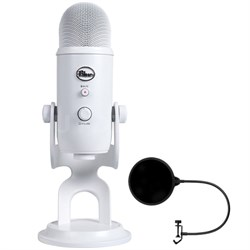 Yeti 3-Capsule USB Microphone Whiteout - YETI WHITEOUT w/ Pop Shield Wind Screen