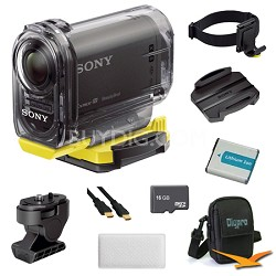 HDR-AS10/B Compact POV HD Action Camera Anti Fog and Mount Bundle