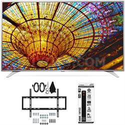49UH6500 49-Inch 4K UHD Smart TV w/ webOS 3.0 Slim Flat Wall Mount Bundle