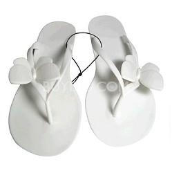 Jelly Sandals White Size Medium (7/8)