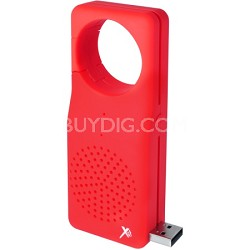 Water-Resistent Bluetooth Speaker with Built-in Microphone Red