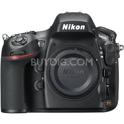 D800E 36.3MP CMOS FX-Format Digital SLR Camera Body (Black) Factory Refurbished