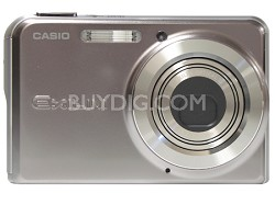 "EX-S770 7 MP with 3X Optical Zoom and 2.8""  LCD (Sparkle Silver)- Refurbished"