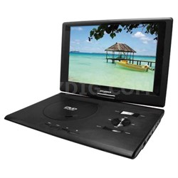 "SDVD1332 13.3"" Swivel Screen Portable DVD Player w/ USB/SD Card Reader"