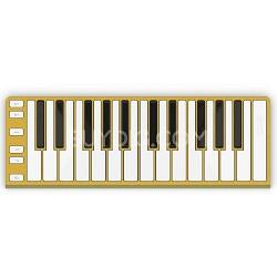 Xkey 25-Key MIDI Portable Mobile Musical Keyboard - Gold