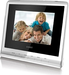 "3.5"" (4:3) Digital Photo Frame with Alarm Clock(White)"