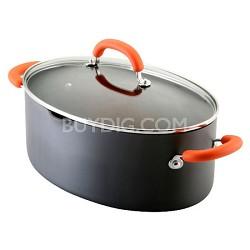 Hard-Anodized II 8-Quart Covered Pasta Etc. Pot, Orange Handles