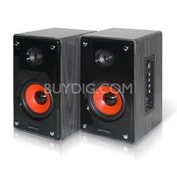 "MRS-4UR 4"" Studio Monitor Speakers - Red Woofer"