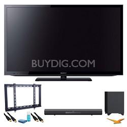 "KDL46HX750 46"" 3D Wifi XR 480hz LED HDTV Surround Sound Bundle"