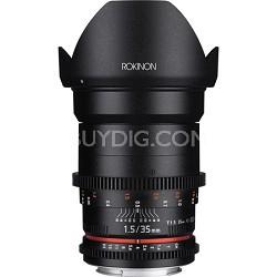 DS 35mm T1.5 Full Frame Wide Angle Cine Lens for Canon EF Mount