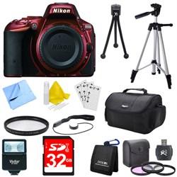 D5500 Red Digital SLR Camera Deluxe Bundle