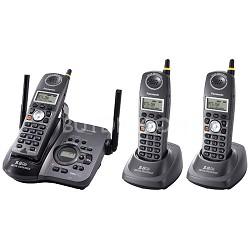 KX-TG5633B 3-Handset Gigarange 5.8 GHz Cordless Phone Digital Answering System