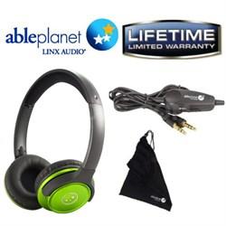 SH190 Travelers Choice Headphones w/ LINX AUDIO & Inline Vol. - Grn - OPEN BOX