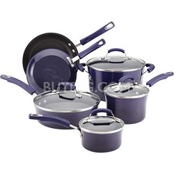 Porcelain Enamel II Nonstick 10-Piece Cookware Set, Purple Gradient