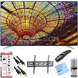 """79UF7700 - 79"""" 240Hz 2160p 4K Smart LED UHD TV Plus Tilt Mount & Hook-Up Bundle"""