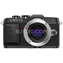 PEN E-PL7 16MP Mirrorless Micro Four Thirds Digital Camera - Black