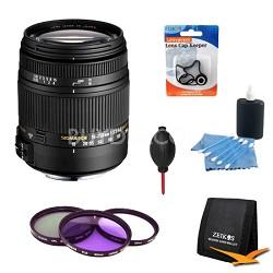 18-250mm F3.5-6.3 DC OS HSM Lens for Nikon AF w/ Complete Pro Lens Kit