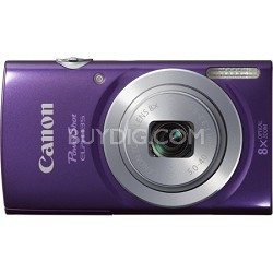 PowerShot ELPH 135 16MP 8x Optical Zoom Digital Camera - Purple