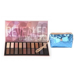 Revealed Eye-Shadow 20-Color Palette with Free Cosmetics Bag