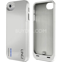 DX-05-2300B Protective Battery Case for iPhone 5 - Glossy White