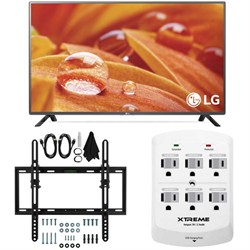 32LF595B - 32-Inch 720p LED HD Smart TV w/ webOS 2.0 Flat/Tilt Wall Mount Bundle