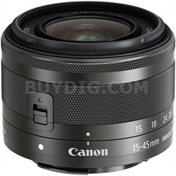 EF-M 15-45mm f/3.5-6.3 IS STM Lens for EOS M Mirrorless Cameras (Graphite)