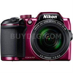 COOLPIX B500 16MP 40x Optical Zoom Digital Camera w/ Built-in Wi-Fi - Purple