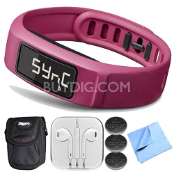 Vivofit 2 Bluetooth Fitness Band (Pink)(010-01503-03) Bundle