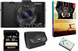 Cybershot DSC-RX100M II Cyber-shot 20.2MP Digital Camera Bundle Deal