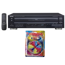 5-Disc Carousel CD Player w/ Remote 12-PD-D2610MK2 w/ Trisonic Lens Cleaner