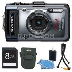 TG-1iHS 12 MP Waterproof Digital Camera  Refurbished 8GB Bundle