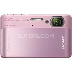 Cyber-shot DSC-TX5 10.2 MP Digital Camera (Pink) - REFURBISHED