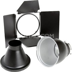 Basic Reflector Kit Includes Reflector, Snoot and 4 Leaf Barndoor - BW-1882