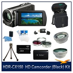 HDR-CX150  HD Camcorder(Black) with 16 GB Card, Spare Batt, Case, Tri Pod & More