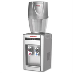 """21"""" Tabletop Water Cooler Dispenser with 4 Gallon Filtration System, Silver"""