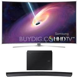 "UN55JS9000 Curved 55"" 2160p 3D 4K SUHD LED TV HW-J6000 Soundbar Bundle"