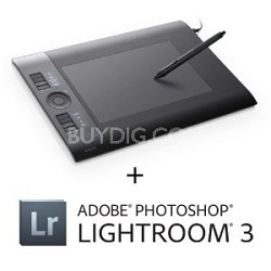 Intuos4 - Medium Pen Tablet + Adobe Photoshop Lightroom 3
